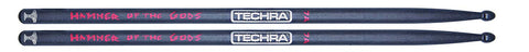 Techra HOTG-7A Hammer of the Gods Series Drum Sticks - Carbon Fiber 7A