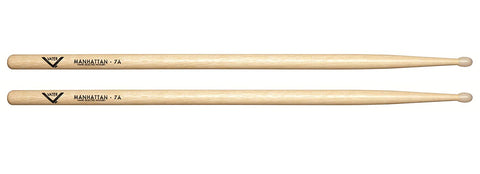 Vater VH7AN American Hickory Manhattan 7A Nylon Tip Drum Sticks Pair