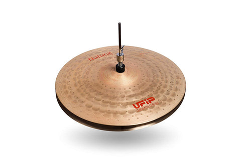 Ufip NS-16LHH Natural Series Light Hi-Hat Cymbals Bronze Alloy 16-Inch