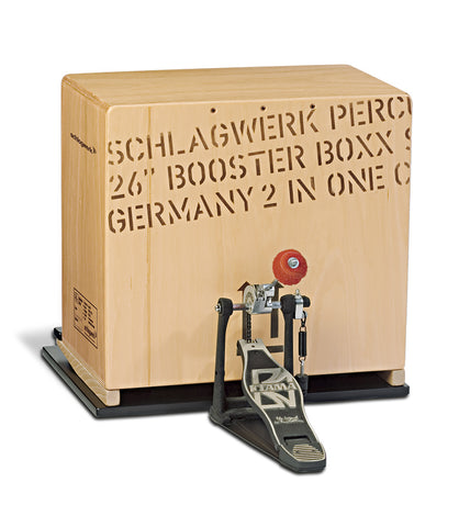 Schlagwerk BCCOM 2-in-1 Bass Cajon with BP40 Base Plate Gabon Wood