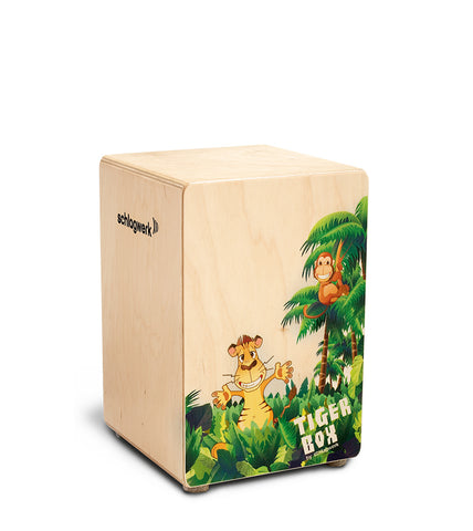 Schlagwerk CP400 Kids Cajon Tiger Box Design Child-Friendly Size