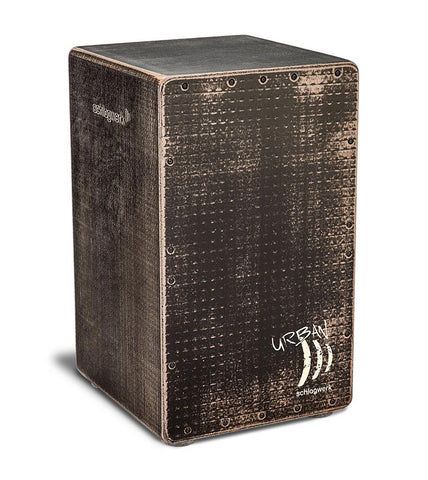Schlagwerk CP5230 Urban OS Cajon - Adjustable Snare Wires - Grunge Black