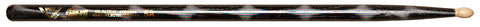 Vater VCBK5A Percussion Color Wrap 5A Wood Tip Drumsticks Black Optic