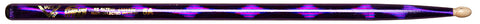 Vater VCP5A Color Wrap Drum Sticks Wood Tip Size 5A Purple Optic