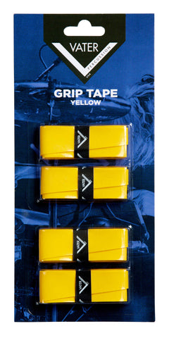 Vater VGTY Drum Stick Grip Tape Linen Based 4 Pack Rolls Yellow