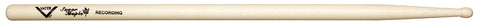 Vater VSMRECW Sugar Maple Recording Wood Tip Drum Sticks Non-Slip Grip
