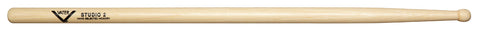 Vater VHS2W Hickory Studio 2 Wood Tip Premium Wood Drum Sticks