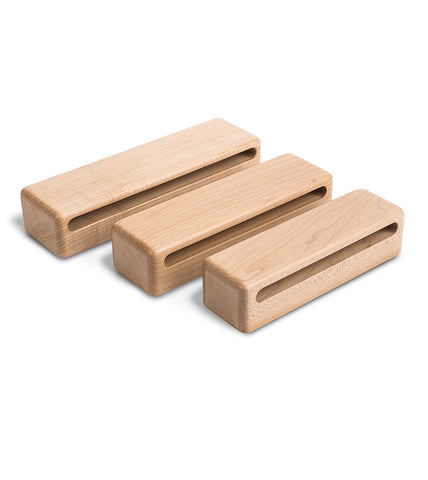 Schlagwerk WB823-H Set of 3 Symphonic Series Solid Hardrock Maple Woodblocks Percussion