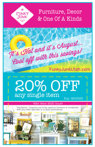 August 2020 Funky Junk Coupon