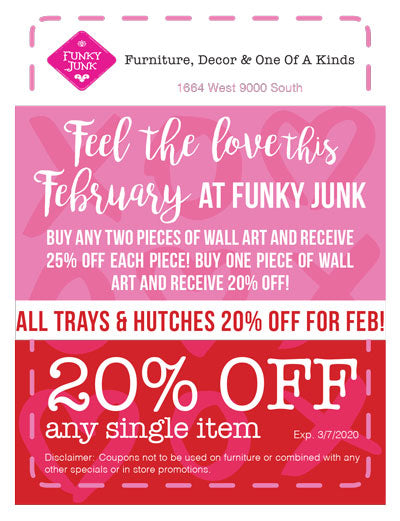 February 2020 Funky Junk Coupon