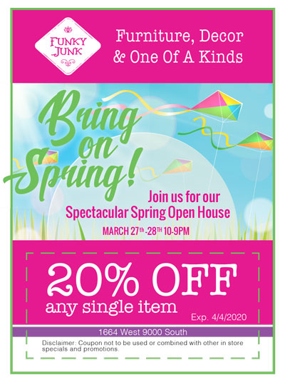 March 2020 Funky Junk Coupon