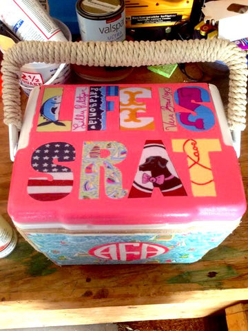 Rope Wrapped Painted Cooler