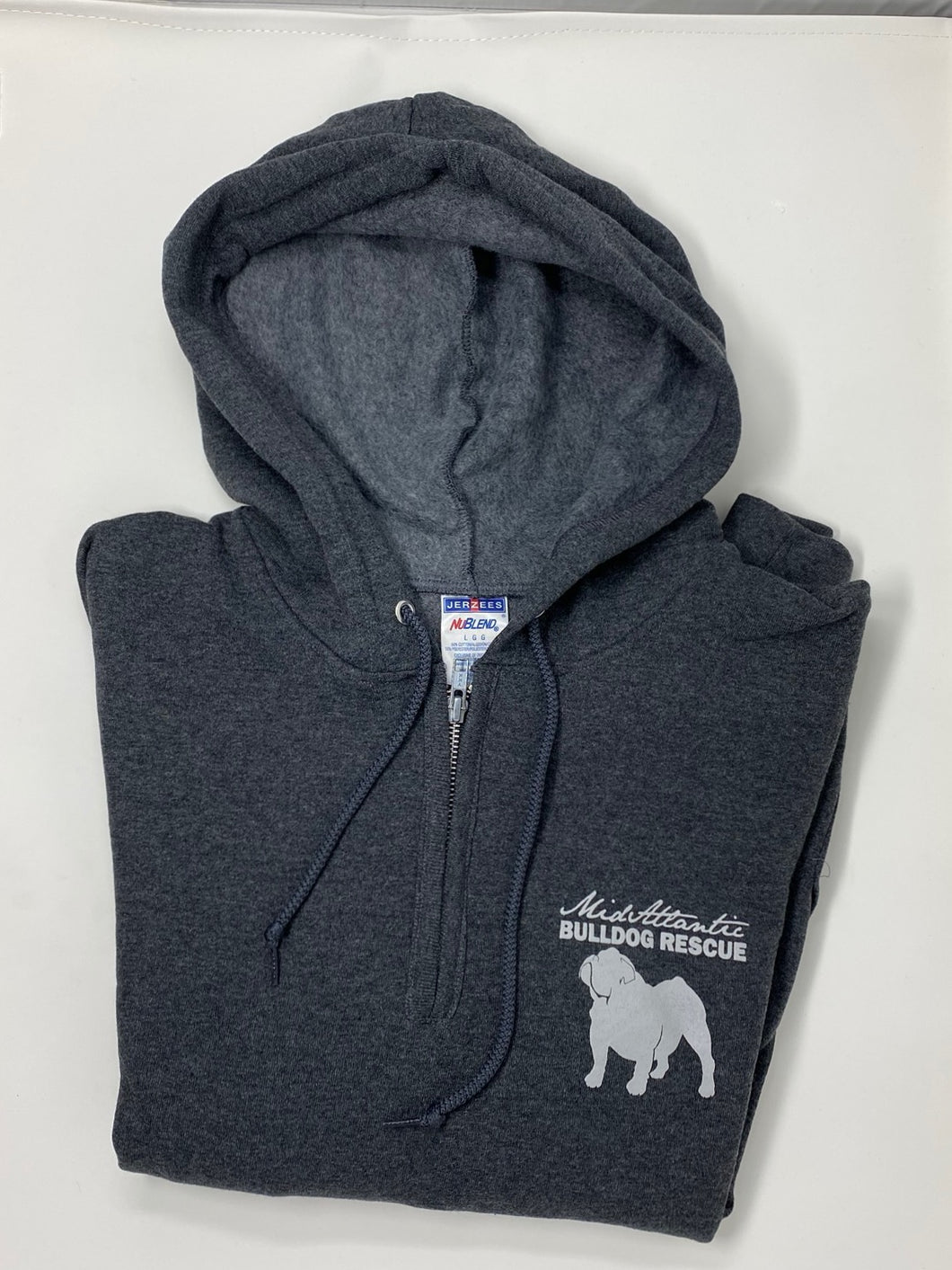 MidAtlantic Bulldog Rescue Hooded Sweatshirt - Grey