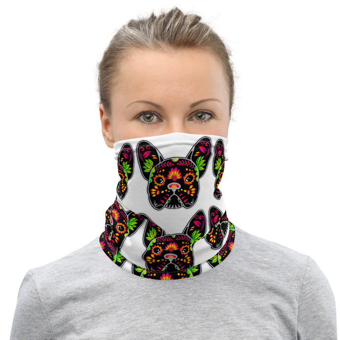Black/White Bulldog Neck Gaiter