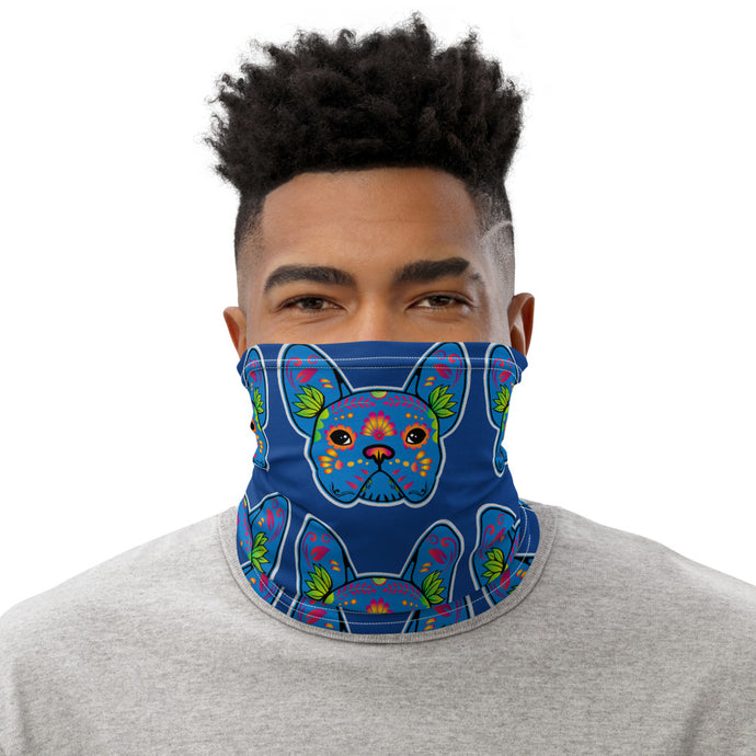 Blue Bulldog Neck Gaiter