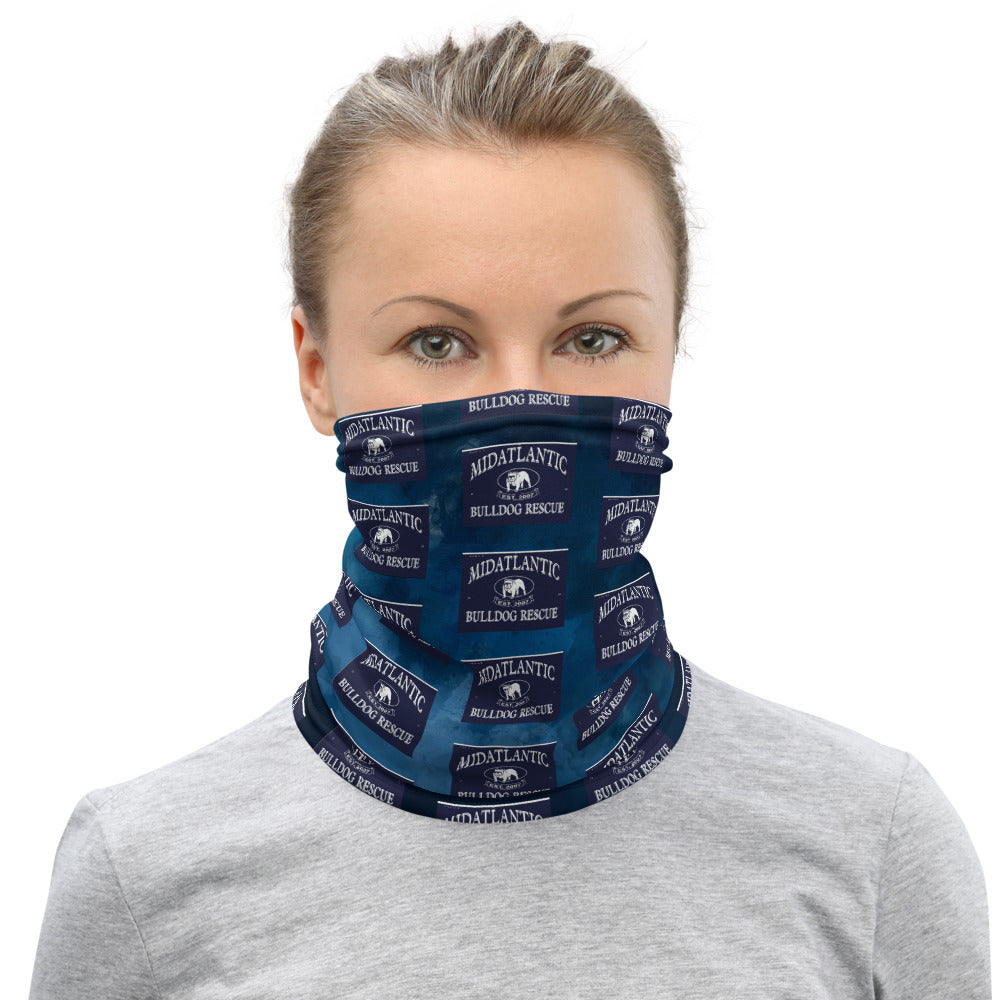 MidAtlantic Bulldog Rescue Neck Gaiter - Blue
