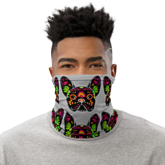 Black/Grey Bulldog Neck Gaiter