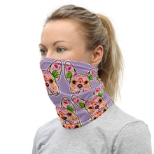 Pink/Purple Bulldog Neck Gaiter