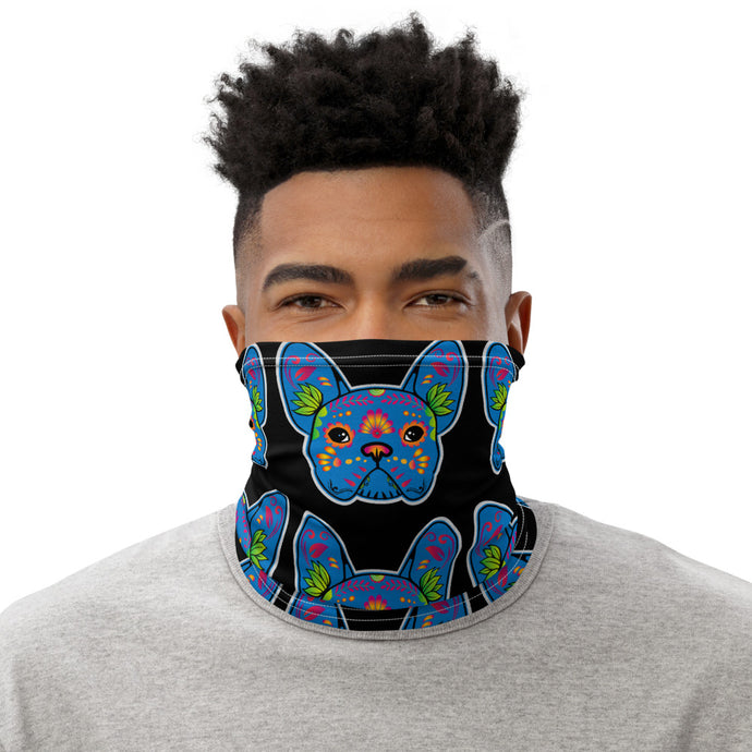 Blue/Black Bulldog Neck Gaiter