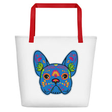 French Bulldog Tote Bag Blue
