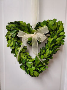 Preserved Heart Boxwood-6""