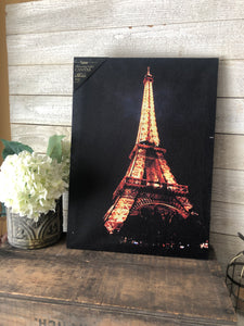 Eiffel Tower Light up Canvas