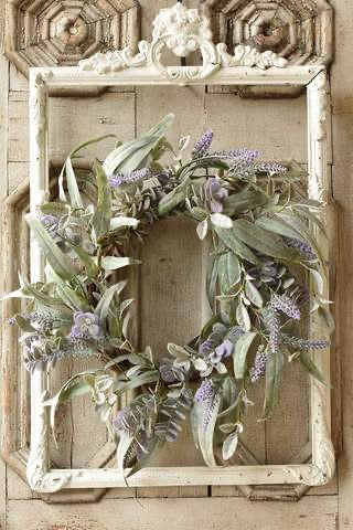 "Lavender And Succulent Wreath 20"" 🌸Coming Spring 2021"