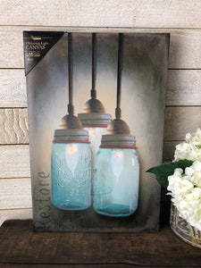 Mason Jar Light Up Canvas