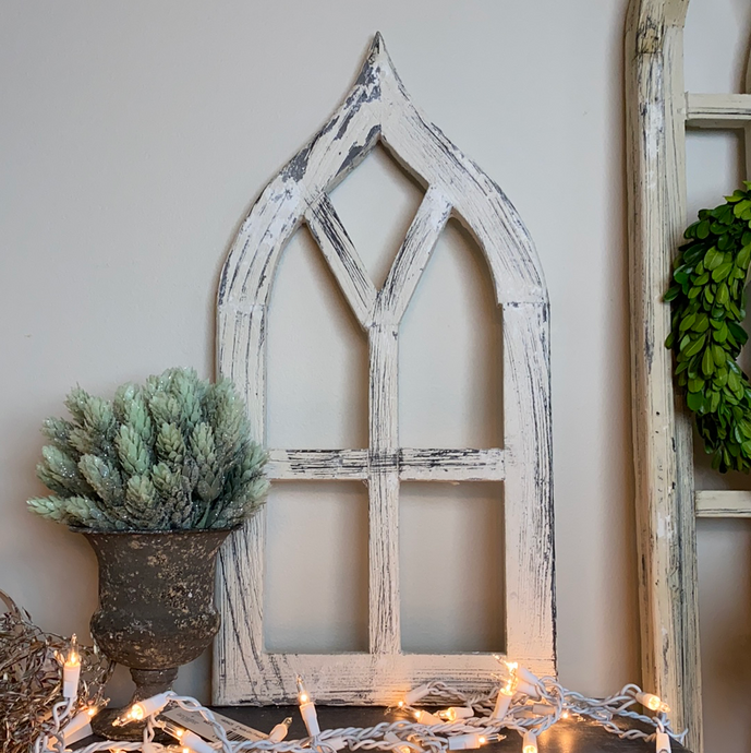 White Pointed Arch 20""