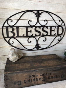 Blessed Metal Wall Decor