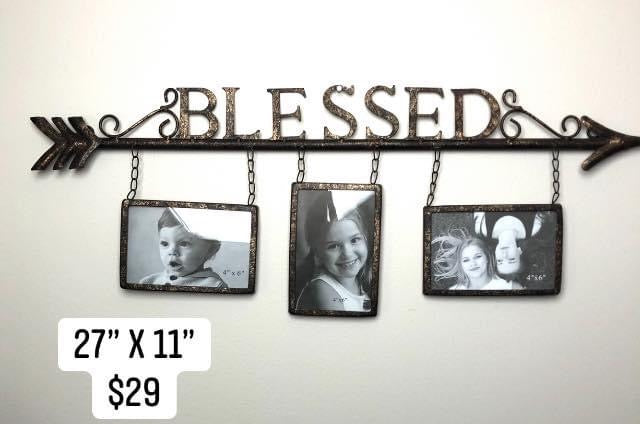 Metal Blessed Arrow Photo Frame