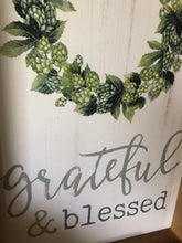 Load image into Gallery viewer, Grateful & Blessed Wood Framed Sign
