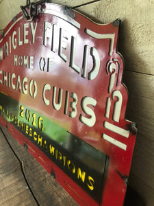 Wrigley Metal Sign-Cubs