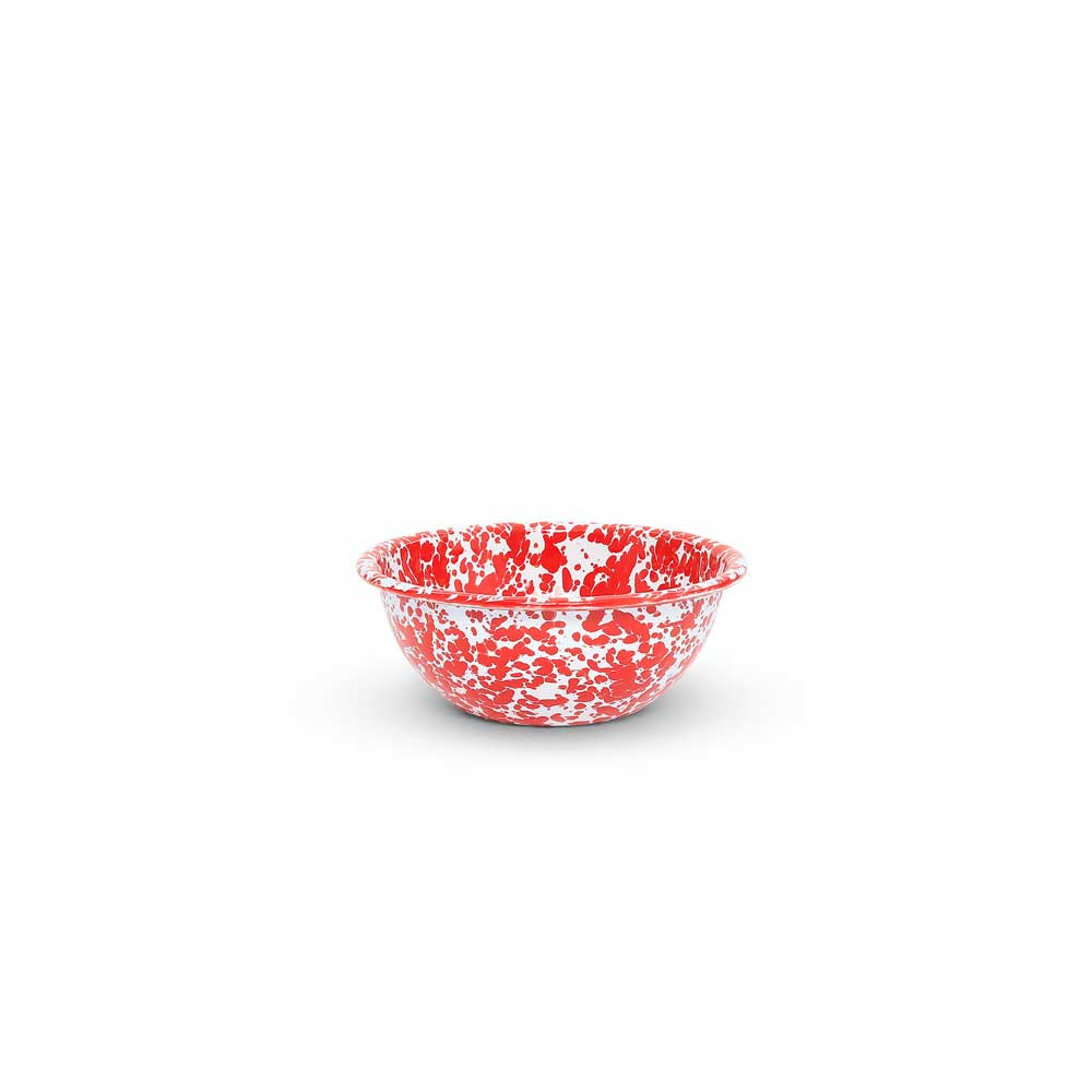 Red Marble Cereal Bowl