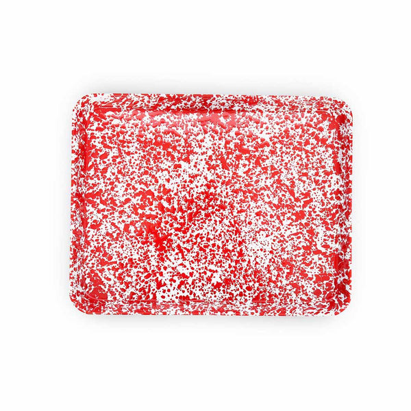 Red Marble Rectangle Tray/Jelly Roll