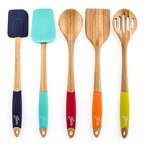 Fiesta 5pc Bamboo Utensil set
