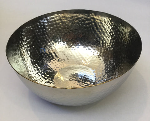 Thirsty Stone Serving Bowl Silver Tone NCH049