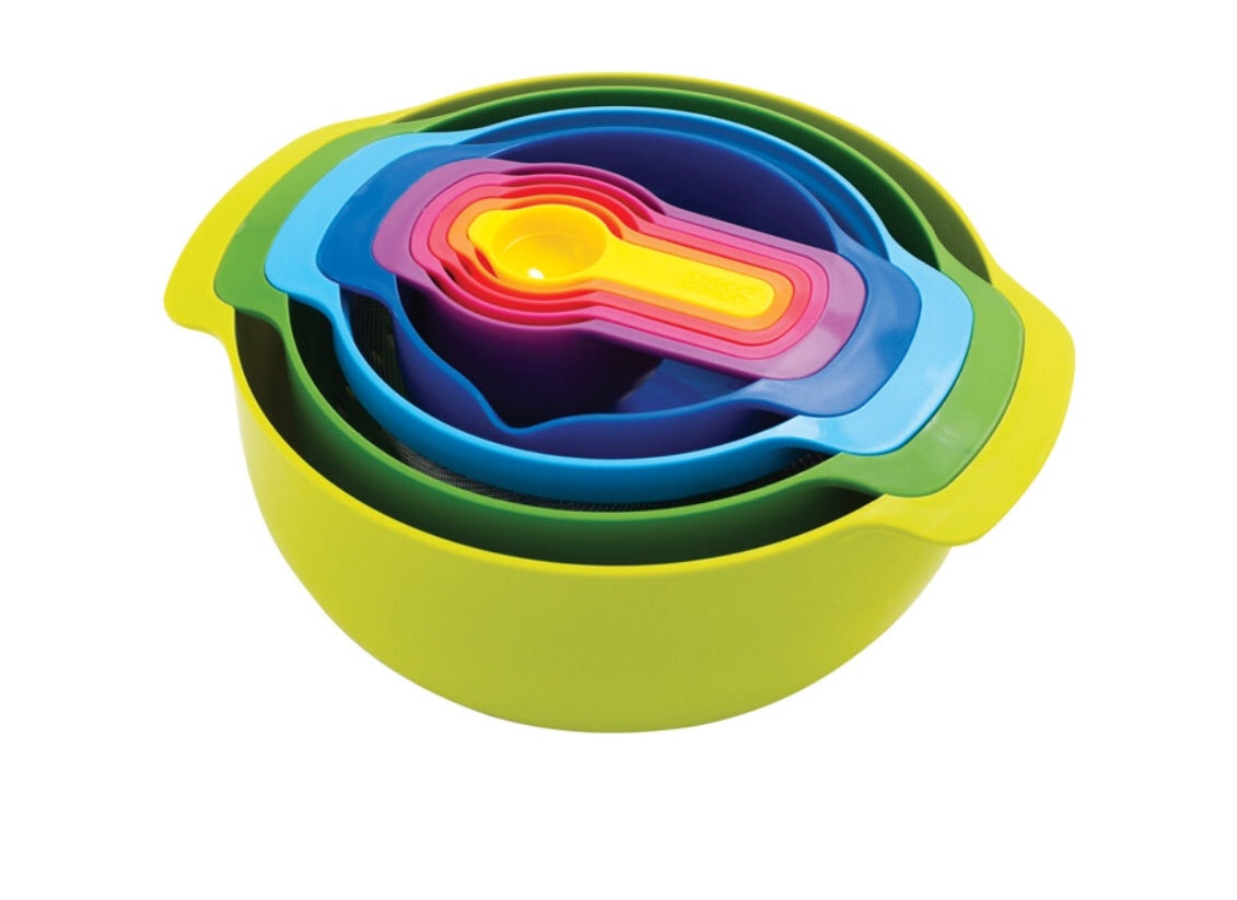 Joseph Joseph Nest Polypropylene Mixing Bowl Set 9pc. 6367445