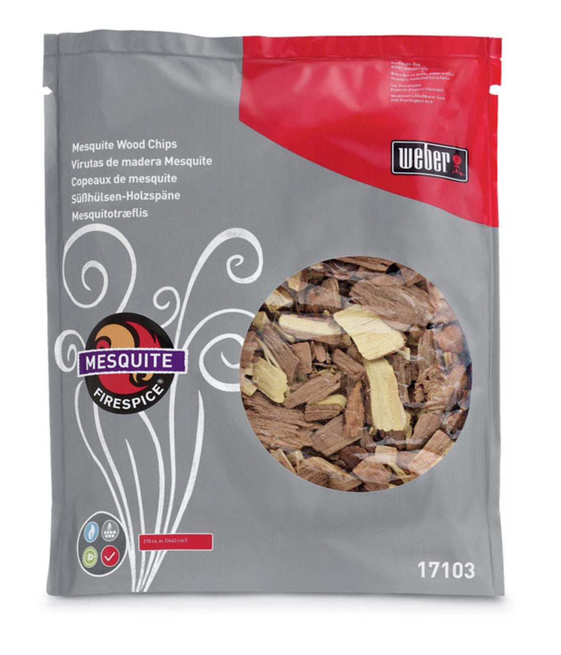 Weber Mesquite Wood Smoking Chips 3lb. 8265498