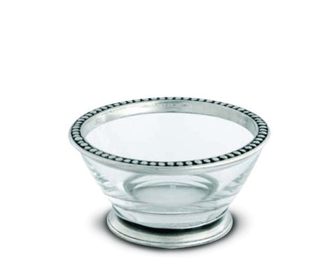 Vagabond House Pewter Beaded Medici Bowl-Small E413S
