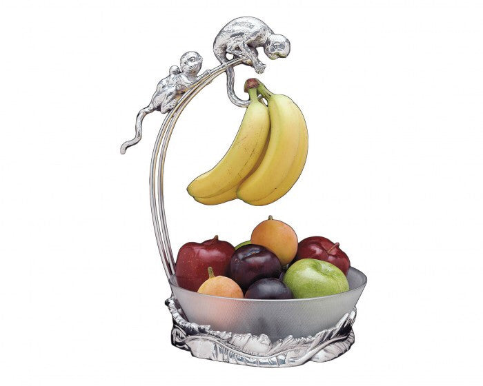 Arthur Court Monkey Banana Holder with Bowl A550016