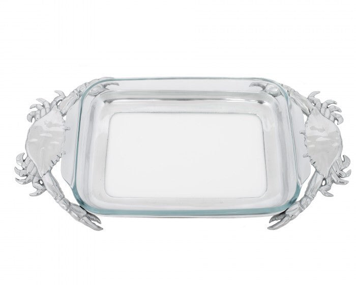 Arthur Court Crab 3QT Casserole With Pyrex A104132