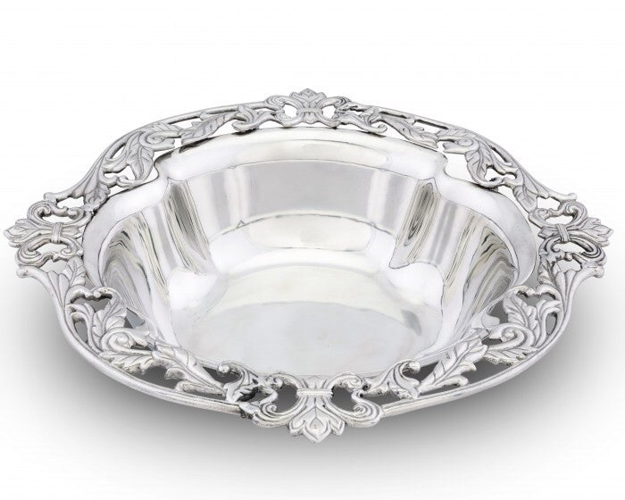 Arthur Court Fleur-De-Lis Acanthus Serving Bowl A114F11