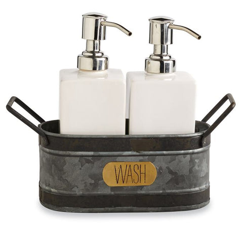 Mudpie Galvanized Tin Soap Caddy Set M4444005