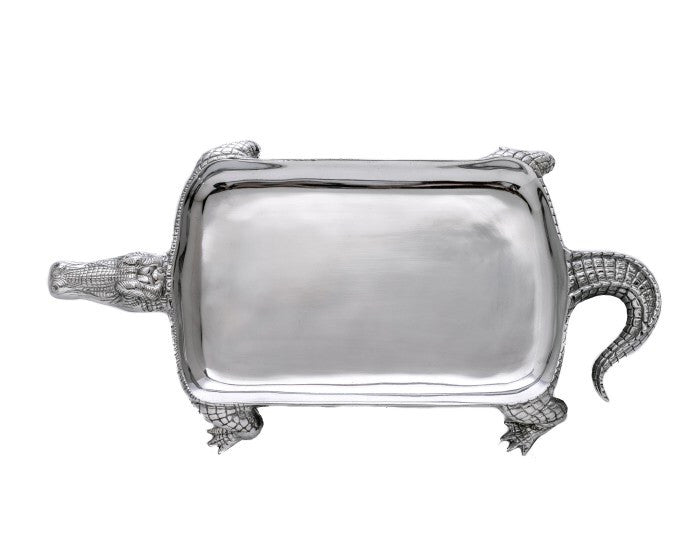 Arthur Court Alligator Figural Platter A104032