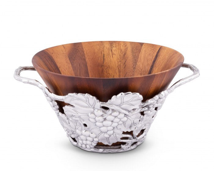 Arthur Court Grape Wood Tall Salad Bowl A218G41