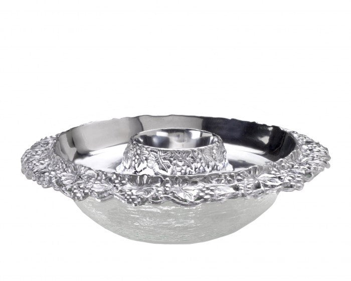Arthur Court Grape Tray with Glass Bowls A103488