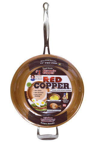 Red Copper Ceramic Copper Fry Pan
