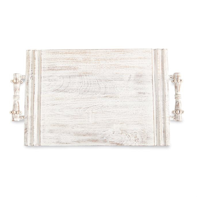 Mudpie Beaded Serving Board White M4754101