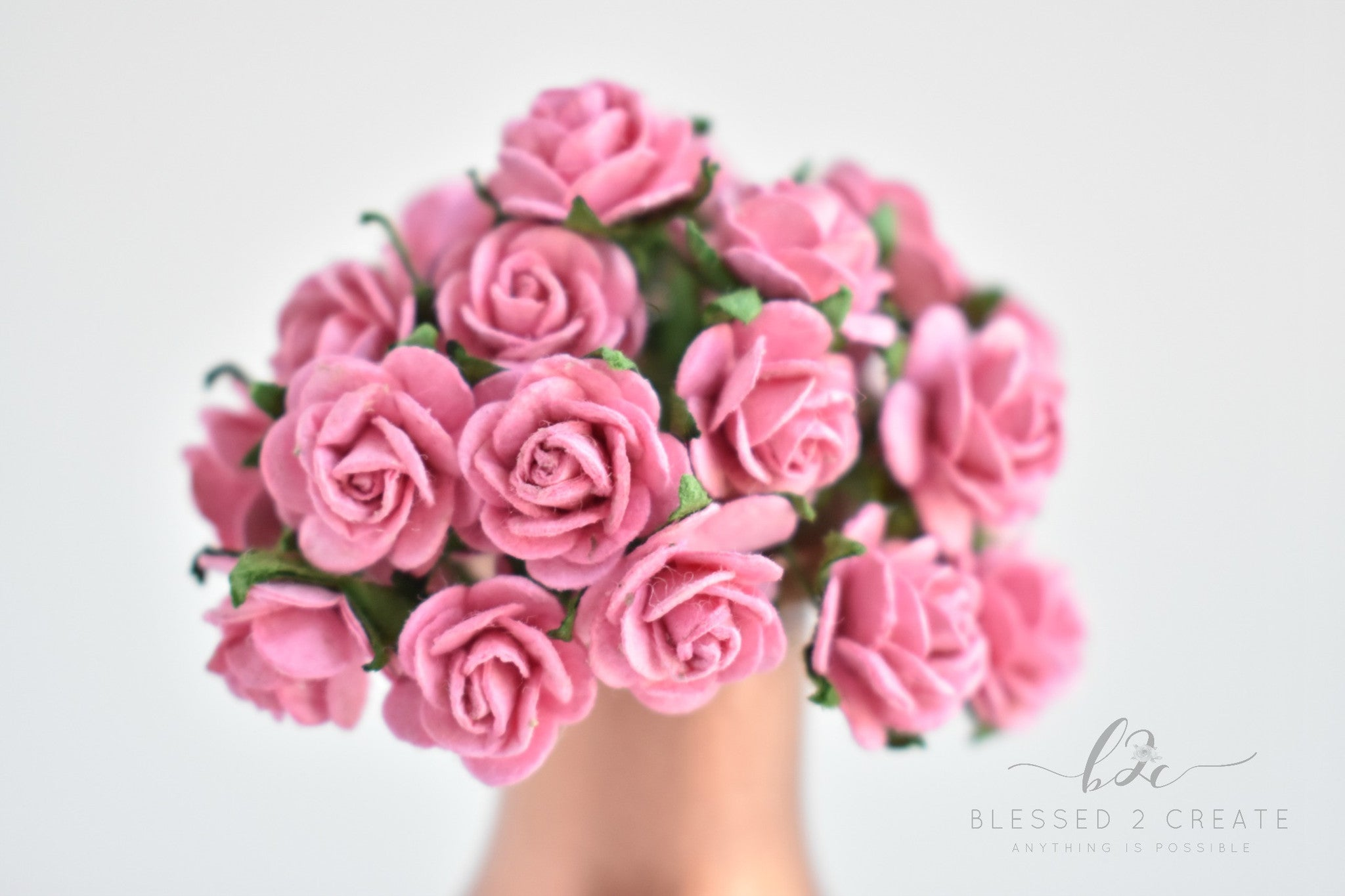 10 15mm pink rose mulberry paper flowers sprinkledwithfunfetti 10 15mm pink rose mulberry paper flowers mightylinksfo